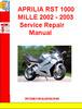 Thumbnail APRILIA RST 1000 MILLE 2002 - 2003Service Repair Manual