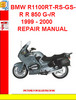 Thumbnail BMW R1100RT-RS-GS-R R 850 G-R 1999 - 2000 REPAIR MANUAL