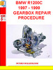 Thumbnail BMW R1200C 1997 - 1999 GEARBOX REPAIR PROCEDURE