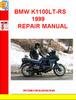 Thumbnail BMW K1100LT-RS 1999 REPAIR MANUAL