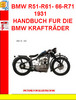 Thumbnail BMW R51-R61- 66-R71  1931 HANDBUCH FUR DIE BMW KRAFTRÄDER