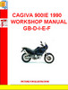 CAGIVA 900IE 1990 WORKSHOP MANUAL GB-D-I-E-F