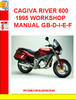 CAGIVA RIVER 600 1995 WORKSHOP MANUAL GB-D-I-E-FF