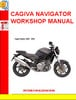 CAGIVA NAVIGATOR WORKSHOP MANUAL