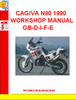 CAGIVA N90 1990 WORKSHOP MANUAL GB-D-I-F-E
