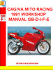 CAGIVA MITO RACING 1991 WORKSHOP MANUAL GB-D-I-F-E