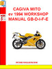 CAGIVA MITO ev 1994 WORKSHOP MANUAL GB-D-I-F-E