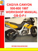 Thumbnail CAGIVA CANYON 500-600 1997 WORKSHOP MANUAL GB-D-F-I