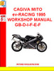 CAGIVA MITO ev-RACING 1995 WORKSHOP MANUAL GB-D-I-F-E-F