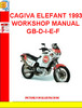 CAGIVA ELEFANT 1993 WORKSHOP MANUAL GB-D-I-E-F