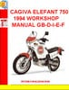 Thumbnail CAGIVA ELEFANT 750 1994 WORKSHOP MANUAL GB-D-I-E-F