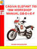 CAGIVA ELEFANT 750 1994 WORKSHOP MANUAL GB-D-I-E-F