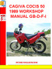 CAGIVA COCIS 50 1989 WORKSHOP MANUAL GB-D-F-I