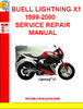 BUELL LIGHTNING X1 1999-2000 SERVICE REPAIR MANUAL