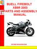Thumbnail BUELL FIREBOLT XB9R 2003 PARTS AND ASSEMBLY MANUAL