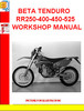 Thumbnail BETA TENDURO RR250-400-450-525 WORKSHOP MANUAL