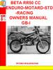 Thumbnail BETA RR50 CC ENDURO-MOTARD-STD-RACING OWNERS MANUAL GB-I