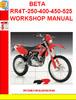 Thumbnail BETA RR4T-250-400-450-525 WORKSHOP MANUAL