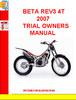 Thumbnail BETA REV3 4T 2007 TRIAL OWNERS MANUAL