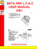 Thumbnail BETA ARK L.C-A.C USER MANUAL GB-I