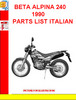 Thumbnail BETA ALPINA 240 1990 PARTS LIST ITALIAN