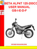 Thumbnail BETA ALP4T 125-200CC USER MANUAL GB-I-E-D-F
