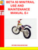 Thumbnail BETA 50 MINITRAIL USE AND MAINTENANCE MANUAL E-I