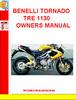 Thumbnail BENELLI TORNADO TRE 1130 OWNERS MANUAL