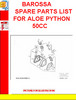 Thumbnail BAROSSA SPARE PARTS LIST FOR ALOE PYTHON 50CC