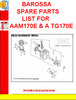 Thumbnail BAROSSA SPARE PARTS LIST FOR AAM170E & A TG170E