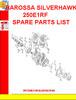Thumbnail BAROSSA SILVERHAWK 250E1RF SPARE PARTS LIST