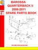 Thumbnail BAROSSA QUARTERBACK II 2006-2011 SPARE PARTS BOOK