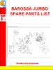 Thumbnail BAROSSA JUMBO SPARE PARTS LIST