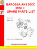 Thumbnail BAROSSA AK3 50CC MINI II SPARE PARTS LIST