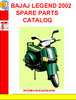 Thumbnail BAJAJ LEGEND 2002 SPARE PARTS CATALOG