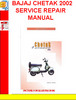 Thumbnail BAJAJ CHETAK 2002 SERVICE REPAIR MANUAL
