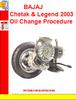 Thumbnail BAJAJ  Chetak & Legend 2003 Oil Change Procedure