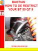 Thumbnail BAOTIAN HOW TO DE RESTRICT YOUR BT 50 QT 9
