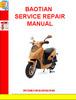 Thumbnail BAOTIAN SERVICE REPAIR MANUAL