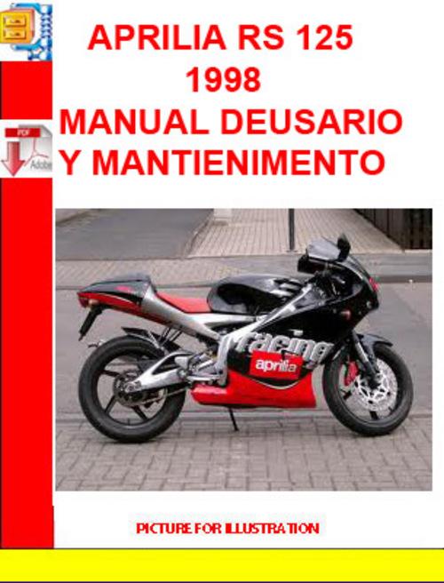 aprilia rs 125 1998 manual de usario y mantienimento
