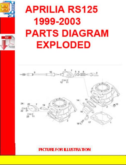 APRILIA    RS125    19992003    PARTS       DIAGRAM    EXPLODED  Download