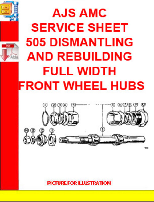 Pay for AJS AMC SERVICE SHEET 505 DISMANTLING AND REBUILDING FULL WI