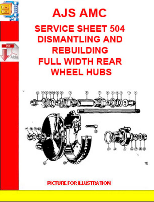 Pay for AJS AMC SERVICE SHEET 504 DISMANTLING AND REBUILDING FULL WI