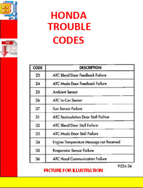 Pay For Honda Trouble Codes Generic Obd Ii Dtc Codes