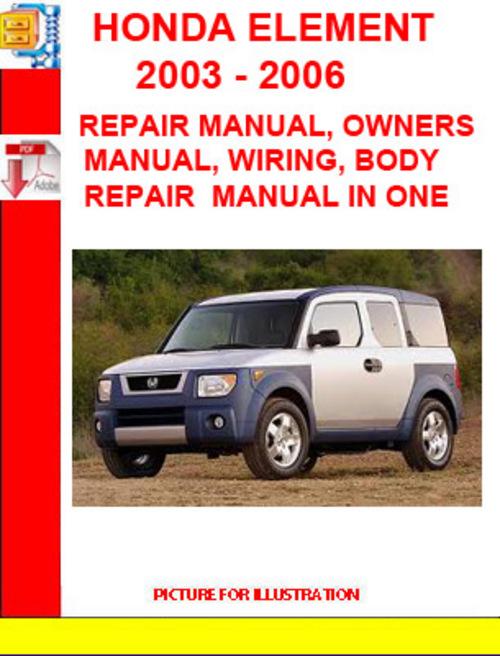 repair manual  honda element  honda element