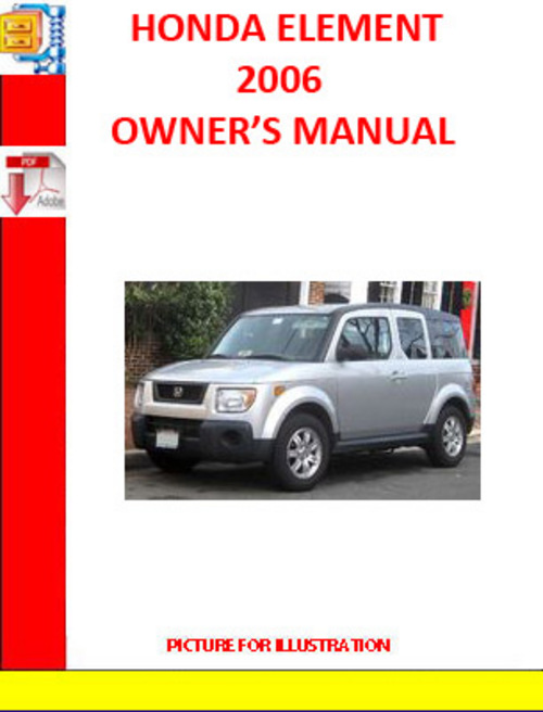 Honda element 2006 owners manual download manuals for Honda financial services hours