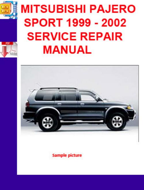 mitsubishi pajero sport 1999 2002 service repair manual Mitsubishi Lancer Evolution Mitsubishi Shogun Sport