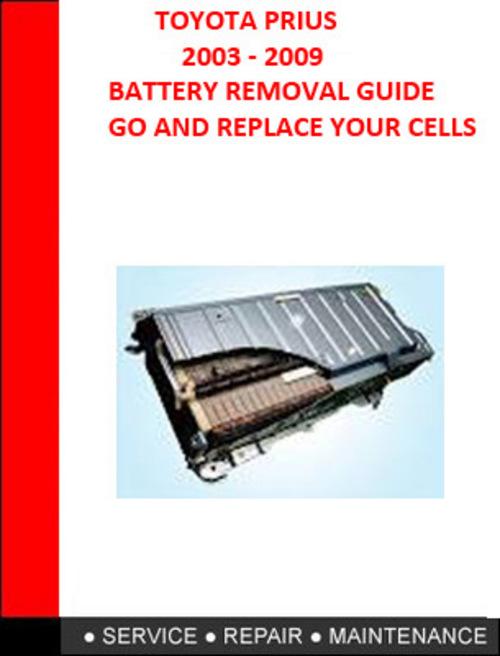 2008 toyota prius repair manual free download