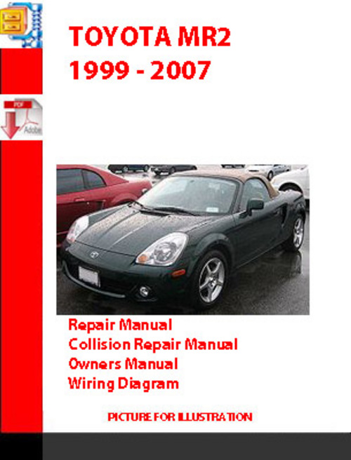 Toyota Mr2 1999 - 2007 Owners  Repair  Wiring  Collision Re