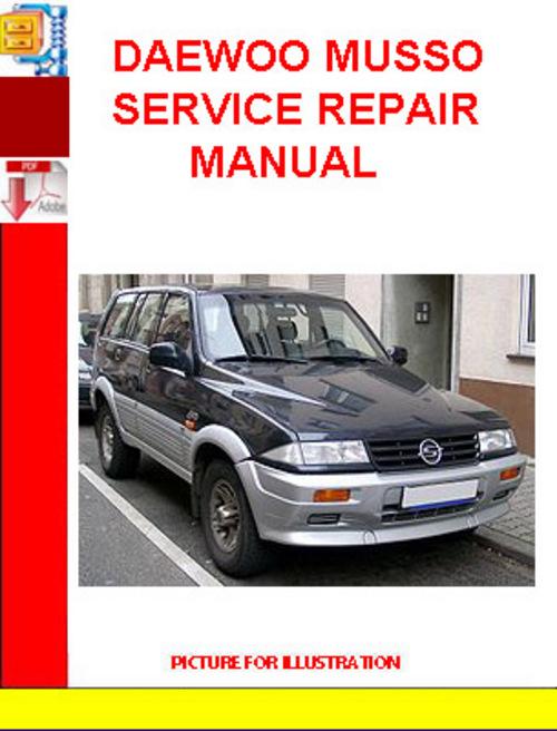 daewoo musso service repair manual download manuals. Black Bedroom Furniture Sets. Home Design Ideas